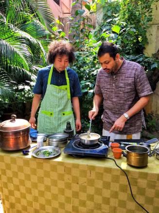 Cookery class for U-Zhaan