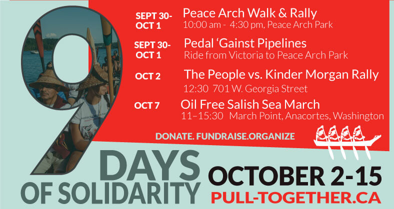 Face Kinder Morgan in Court! 9 Days of Solidarity Events