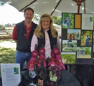 Owner & winemaker Curt Dunham & owner Peggy Fiandaca