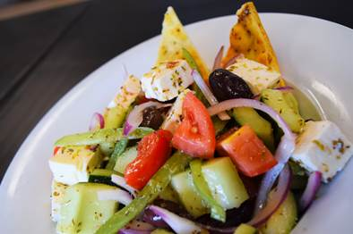 Fresko Mediterranean Kitchen offers a Greek Salad recipe for lighter summer eating