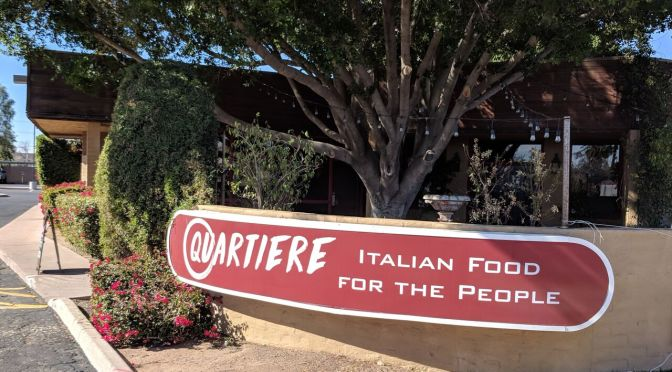 Quartiere serves Italian food in community gathering spot.