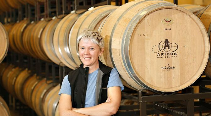 Aridus Wine Company winemaker Lisa Strid is ready for 2018 harvest.