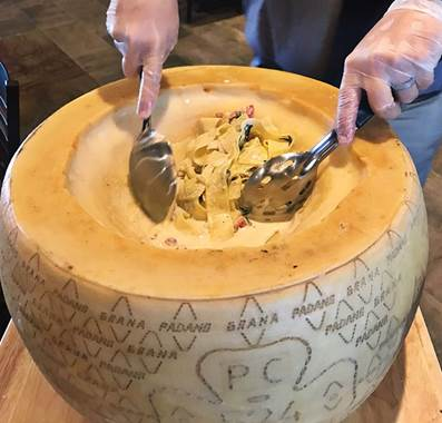 Scottsdale's Babbo Italian Eatery home to 50 pound cheese wheel