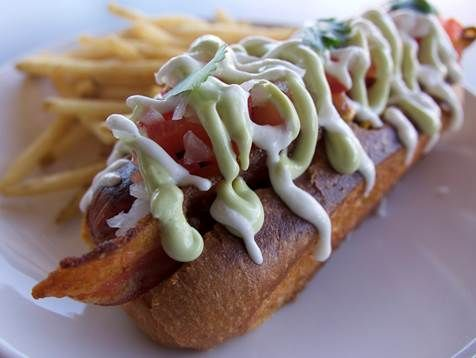 Hot Dog toppings are not the usual at The Larry Phx in July