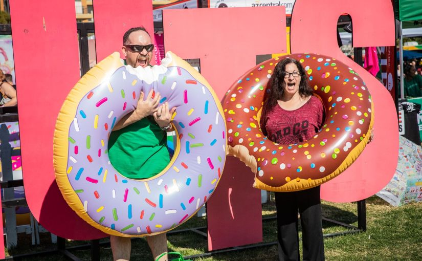 Donuts and pizza are in good supply this weekend in downtown Phoenix