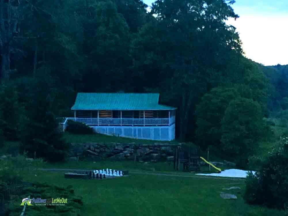 Baby's cabin at dusk Dirty Dancing Mountain Lake Lodge