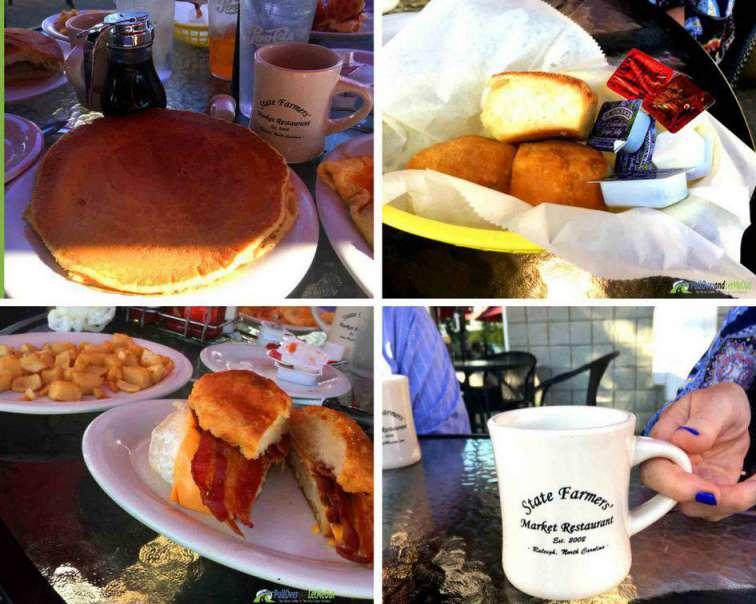 Food at NC Farmers' Market Restaurant PullOverandLetMeOut