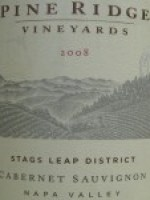 Pine Ridge Vineyards Stags Leap Cabernet