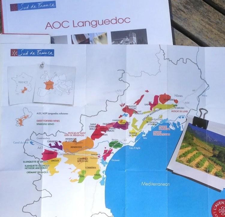 AOC Languedoc Map