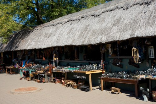 Souvenir shop in Victoria Falls
