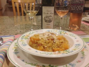Saffron Butternut Squash Risotto and our wine pairing