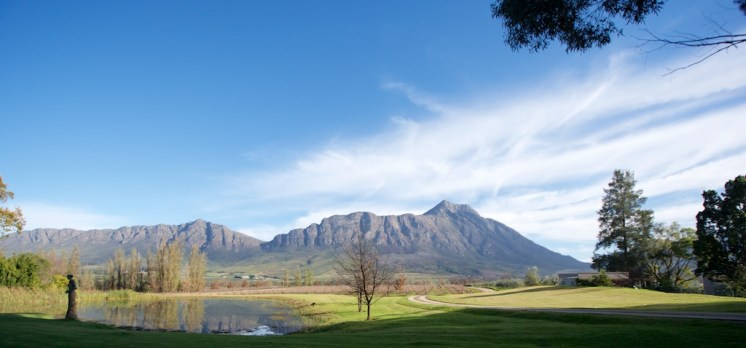 View of Saronsberg Mountain