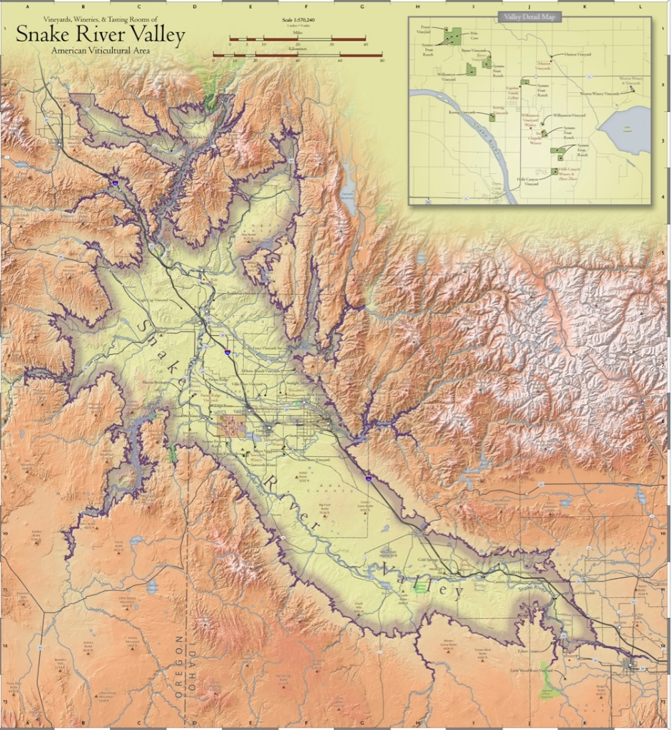 Six Wines From The Snake River Valley Idaho An Introduction To - Snake river world map