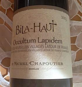 2013 Domaine de Bila-Haut Occultum Lapidem