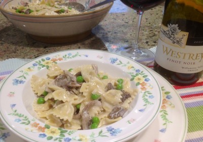 Pasta and Pinot Noir