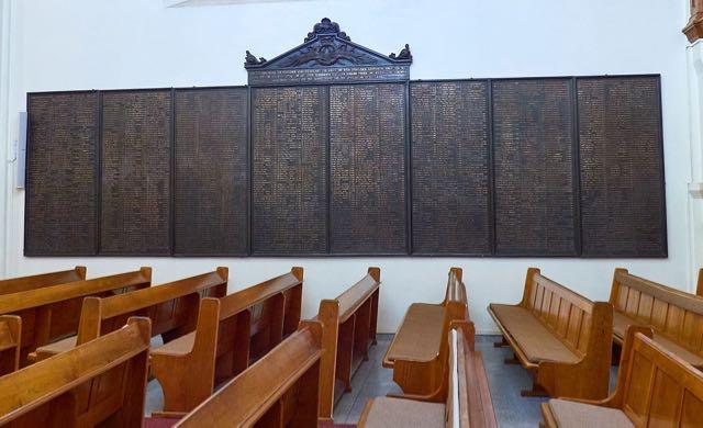 Comemorative plaque Christuskirche