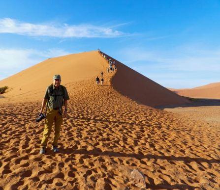 Pete in front of Dune 45