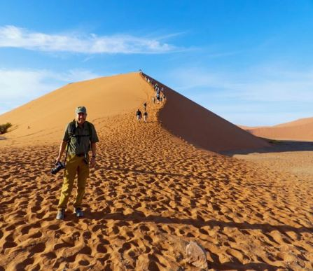 Pete in front of Dune 45