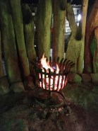 Fire pit in the boma
