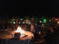 Gathered around the fire