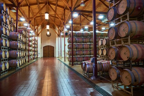 Silverado Vineyards barrel room