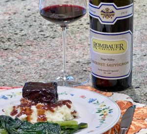 Rombauer Cabernet and dinner