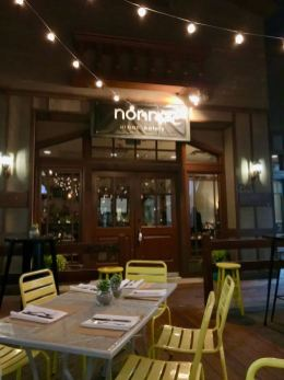 Outdoor dining at nonna urban eatery