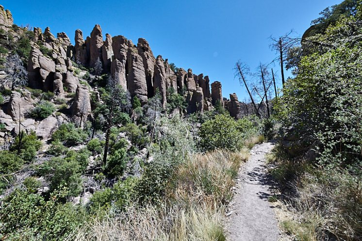 Rock pinnacles along the trail