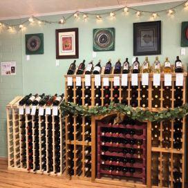 Wine racks in Cochise Corner