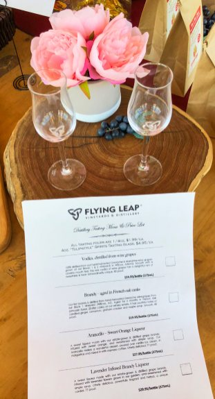 Flying Leap Distillery tasting