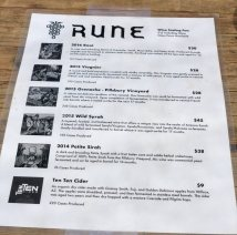 Rune wine tasting choices