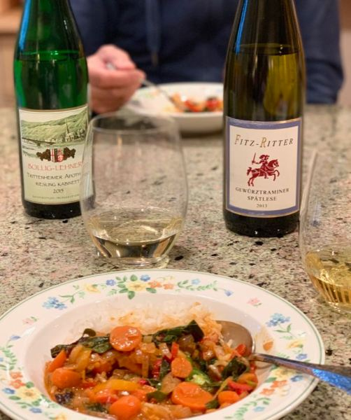 Sweet German wine food pairing