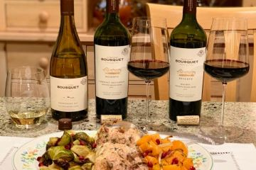 Domaine Bousquet Reserve wines and Savory Tray Bake
