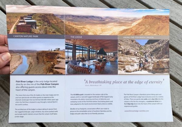 Fish River Lodge brochure - at the edge of eternity
