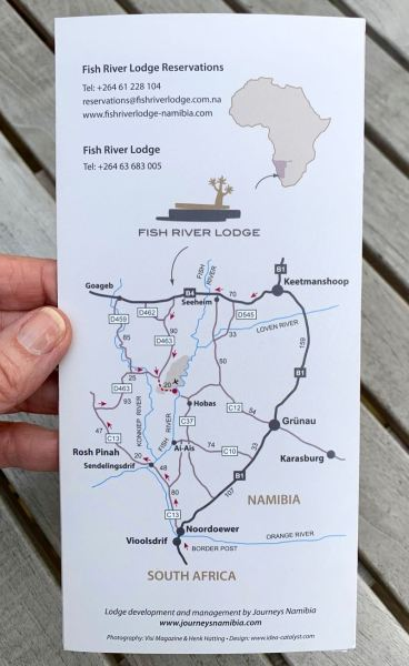 Fish River Lodge brochure - map