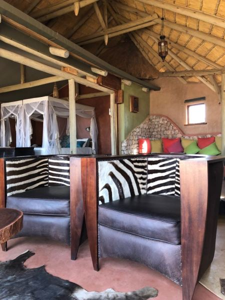 Our room, number 7 Giraffe, Kalahari Red Dunes Lodge