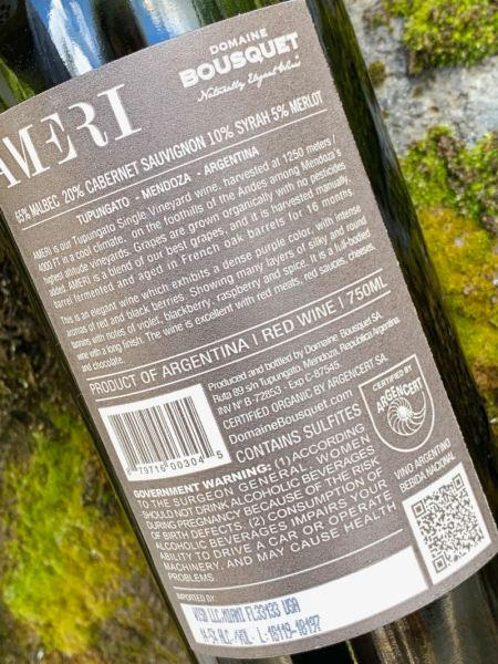 Domaine Bousquet Ameri certified organic label