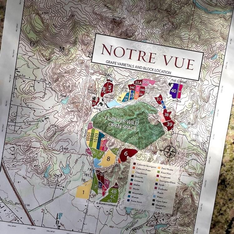 Notre Vue vineyard map photo