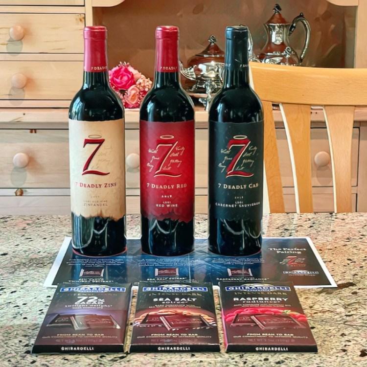 7 Deadly Wines and Ghirardelli Intense Dark Chocolates