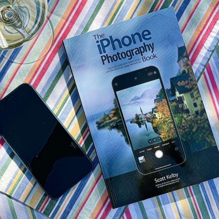 iPhone book photo
