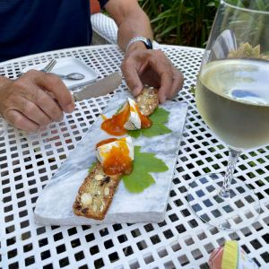 Appetizers and wine at Beltane Ranch photo