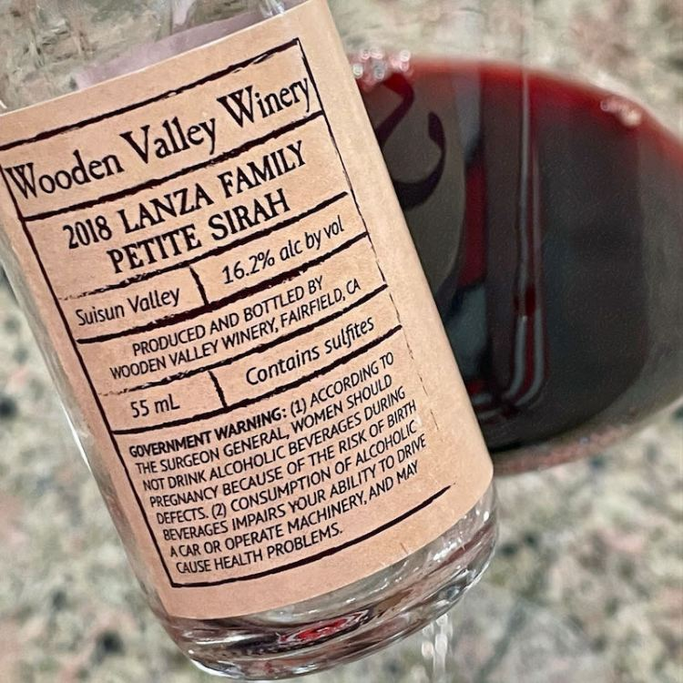 2018 Wooden Valley Winery Lanza Family Petite Sirah photo