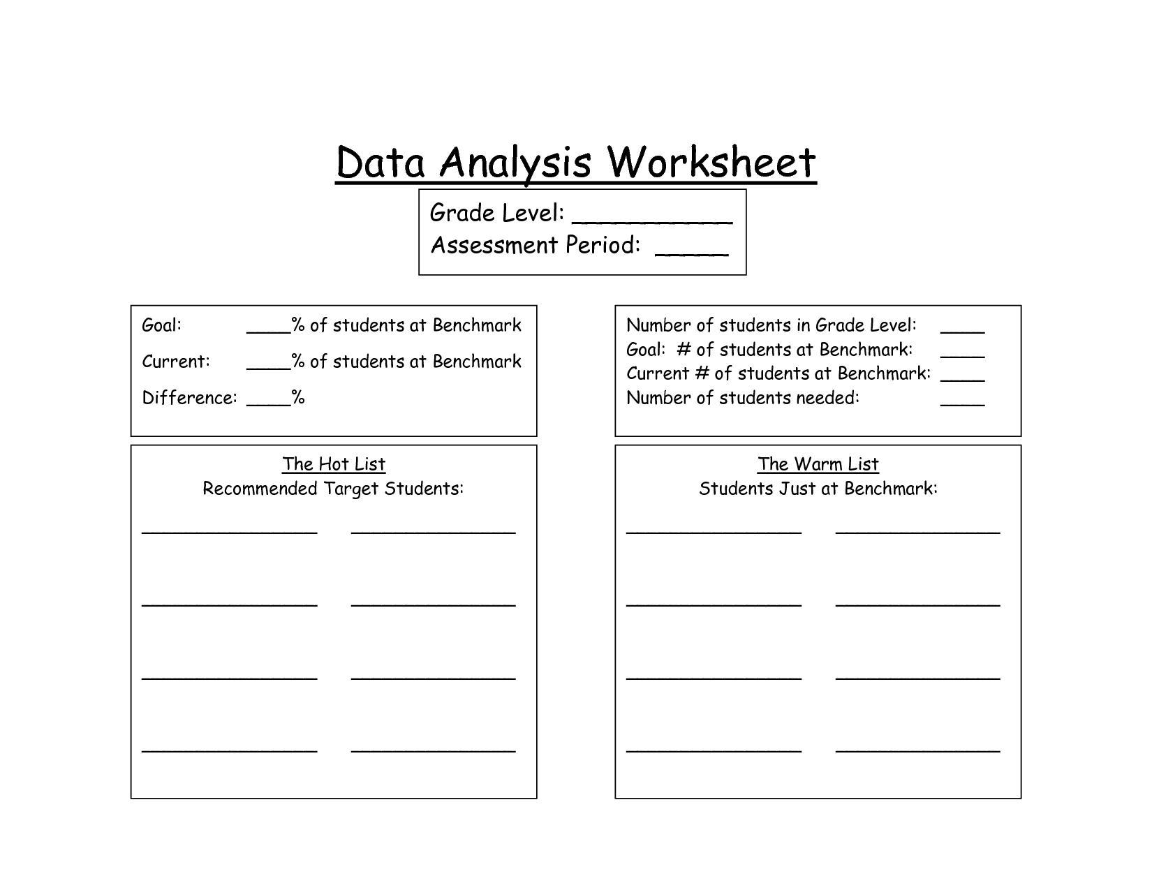 Dataysis Worksheet Worksheets For School