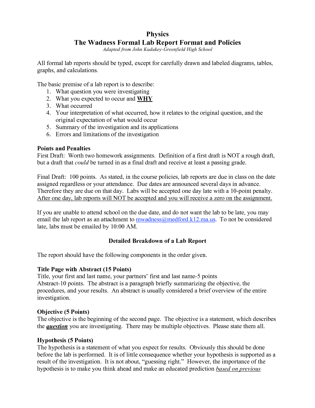 formal report format template – How to Write an Official Report Format