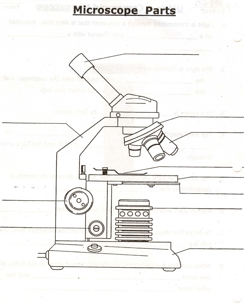 diagram of a microscope and functions its parts hunter pro c sprinkler system wiring the quizlet 5
