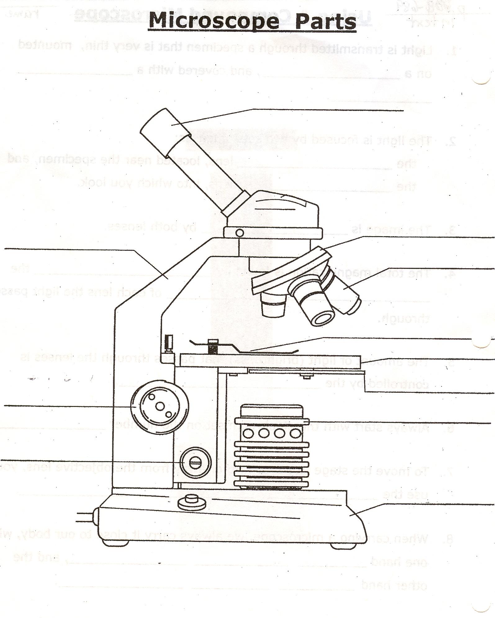 microscope diagram unlabeled apexi vafc2 wiring worksheet parts grass fedjp