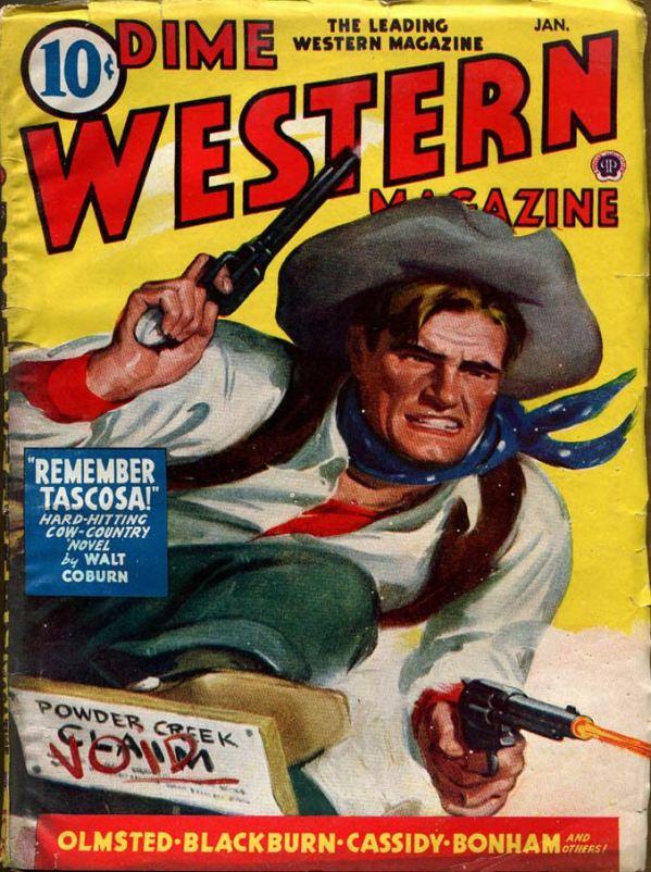 DIME WESTERN MAGAZINE, Jan 1945
