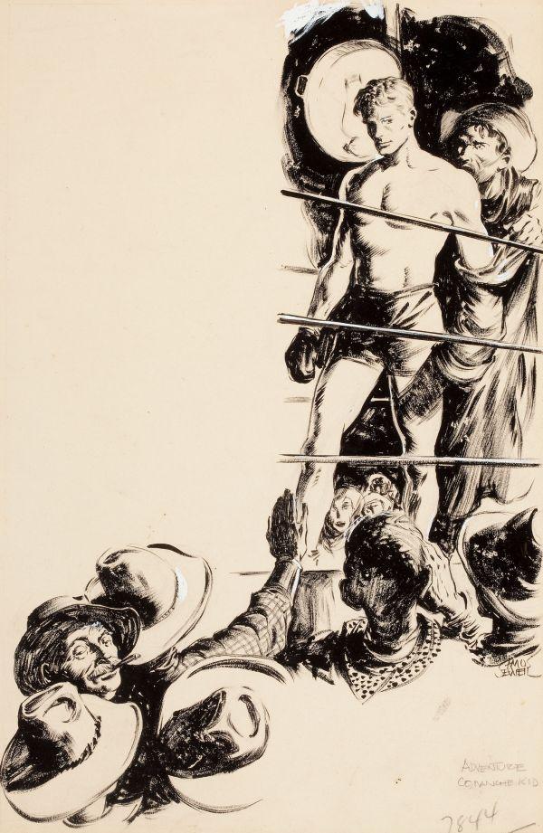 Comanche Kid, Adventure pulp illustration