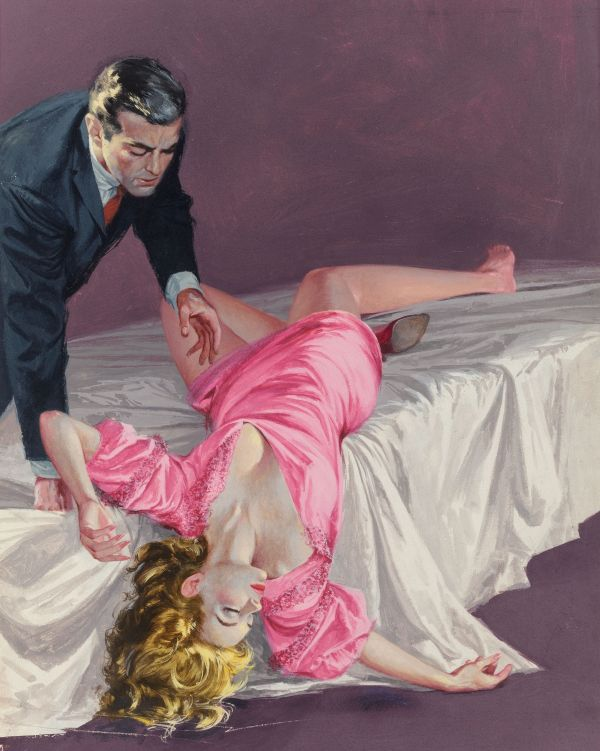 Dead in Bed, paperback cover, 1959