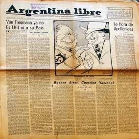 Argentina Libre y …Antinazi, con la pluma y la palabra